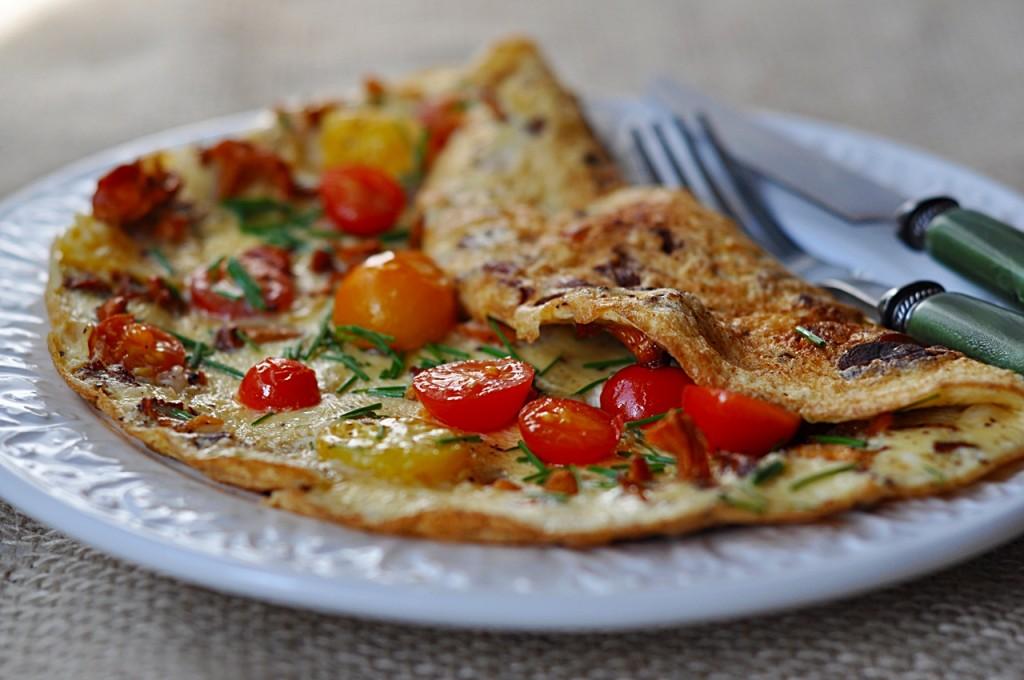 Omlet z kurkami
