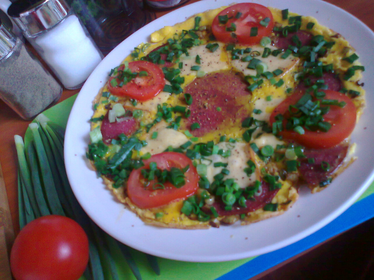 Omlet z salami