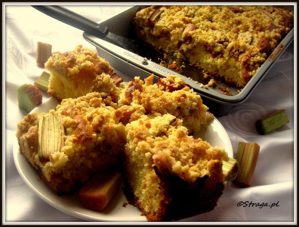 ciasto z rabarbaren i kruszonką