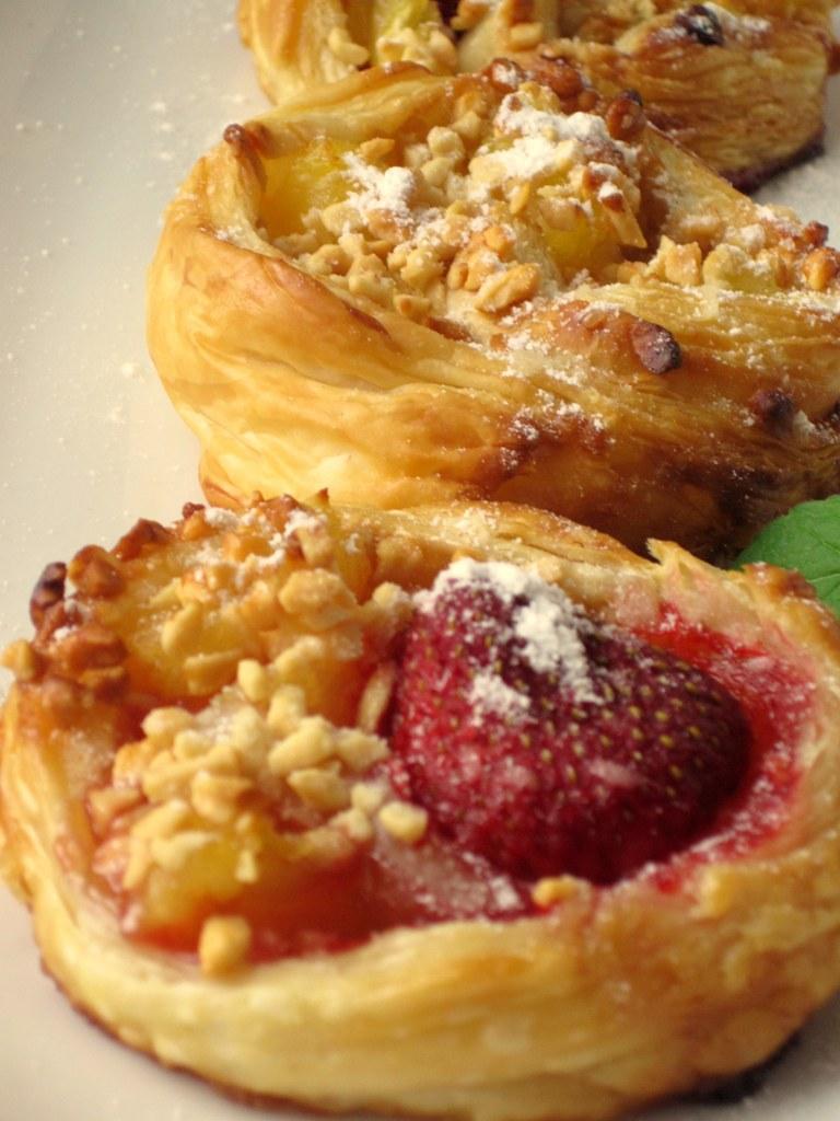 Ciasto francuskie gniazdka