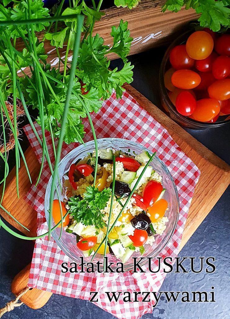 Sałatka warzywna z kuskus