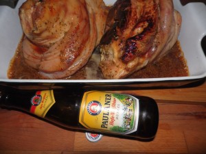 Pieczona golonka w piwie Paulaner