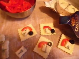 Mini tartinki z ciasta francuskiego