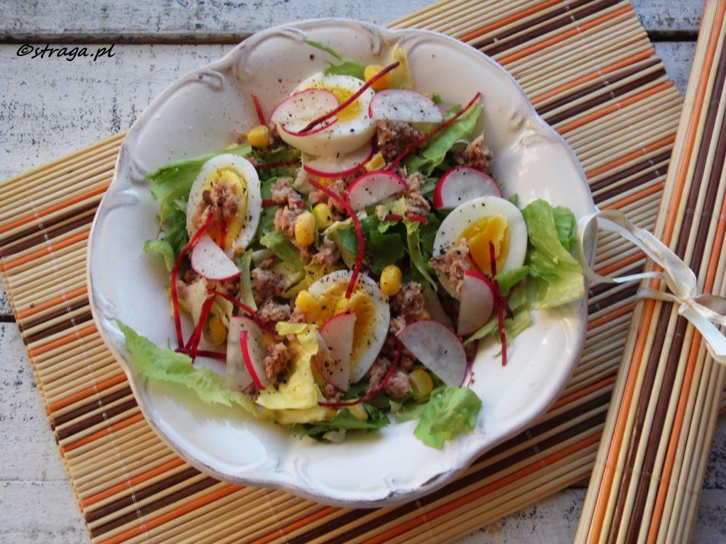 Dietetyczna sałatka z tuńczykiem