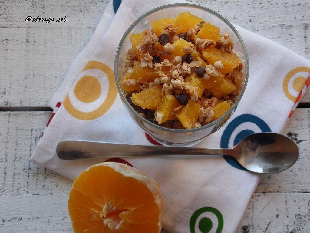 dietetyczny deser pomarańczowy