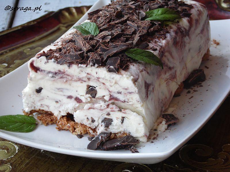 lody truskawkowe z czekoladą
