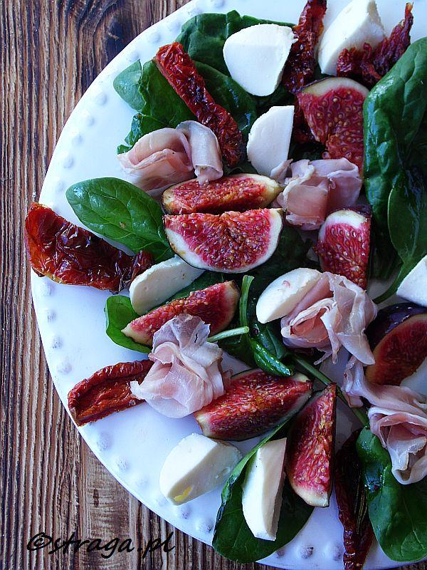 Sałatka z figami i mozzarellą