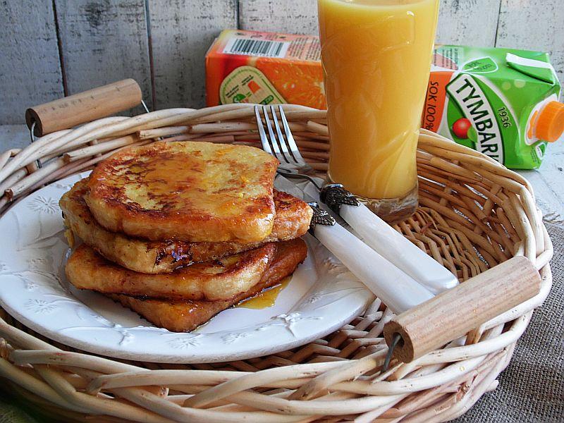 Pomarańczowe tosty francuskie