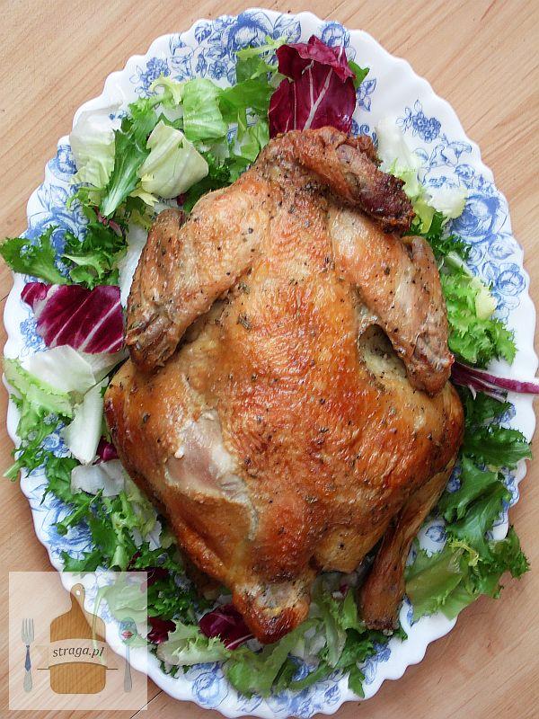 Kurczak pieczony w miodzie i rozmarynie