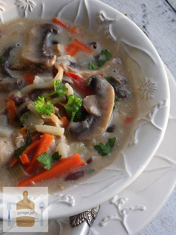 Zupa pieczarkowa egzotyczna