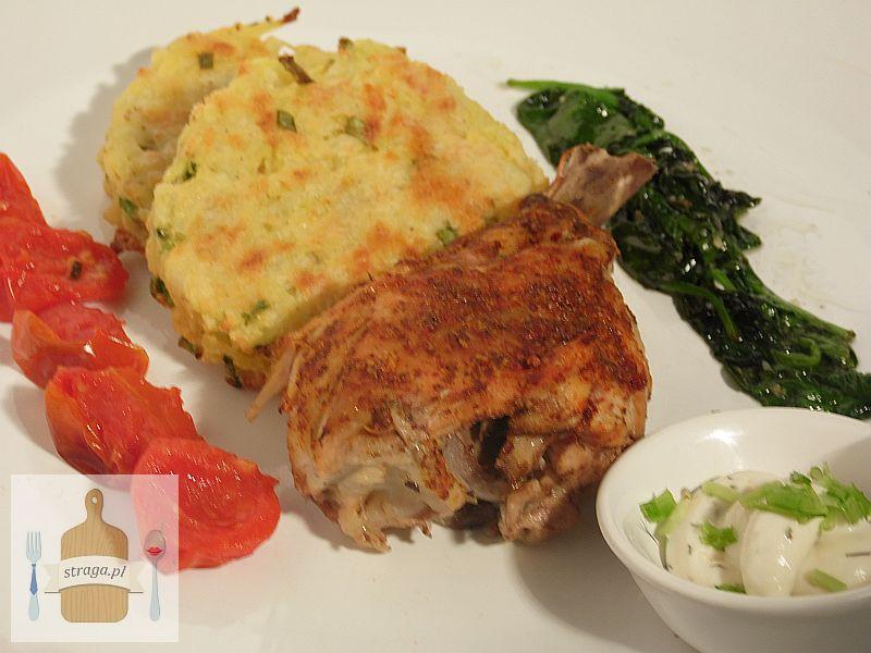 Pieczone udko kurczaka z Rösti