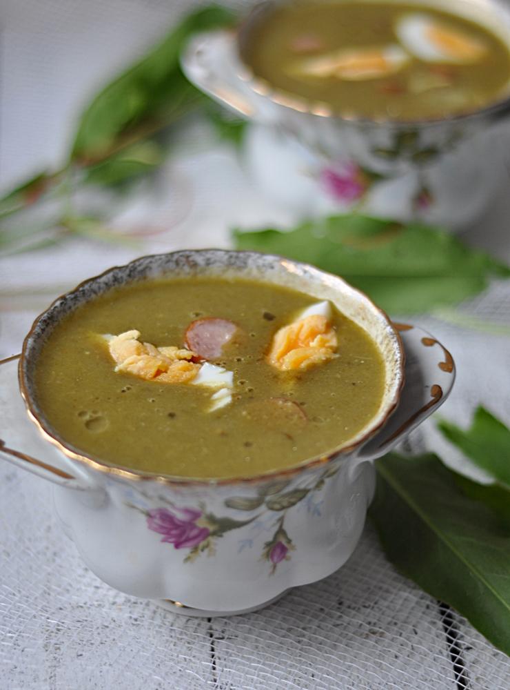 Kremowa zupa szczawiowa