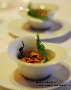 ślimaki z kurkami
