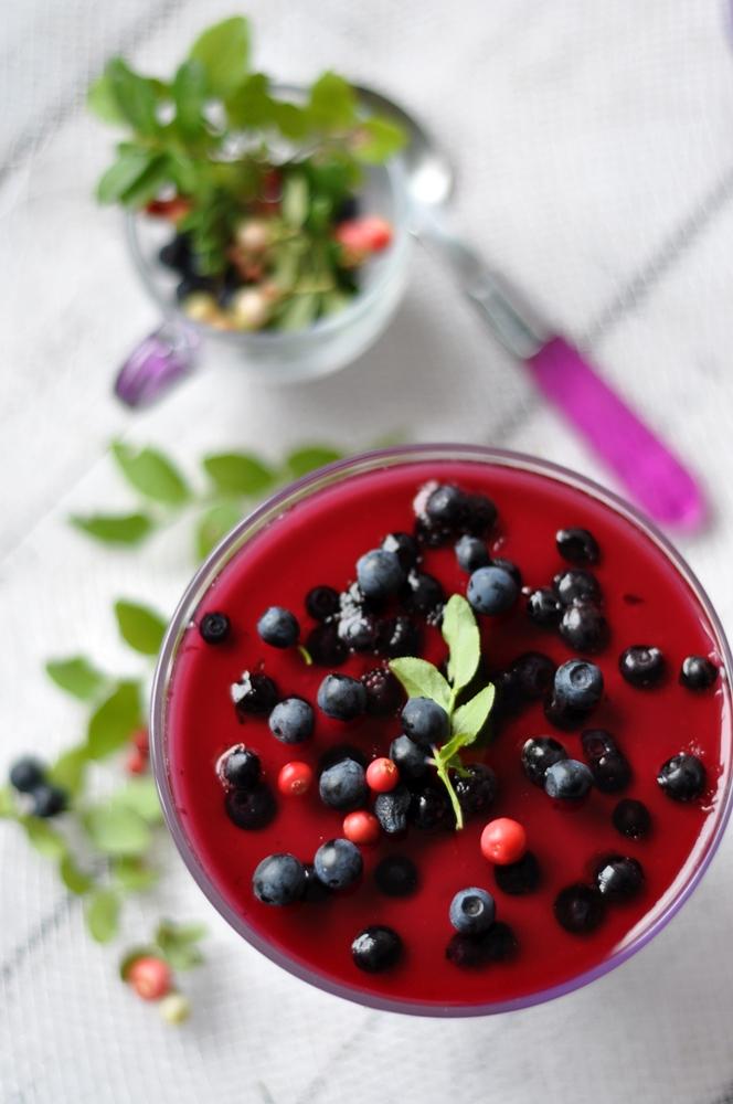 Deser jagodowy na jogurcie