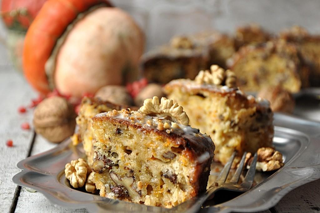 Ciasto orzechowe z dynią