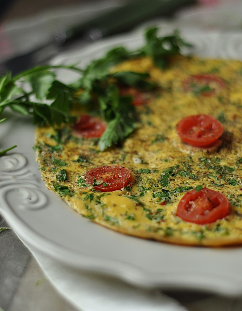 pietruszkowy omlet bez tłuszczu
