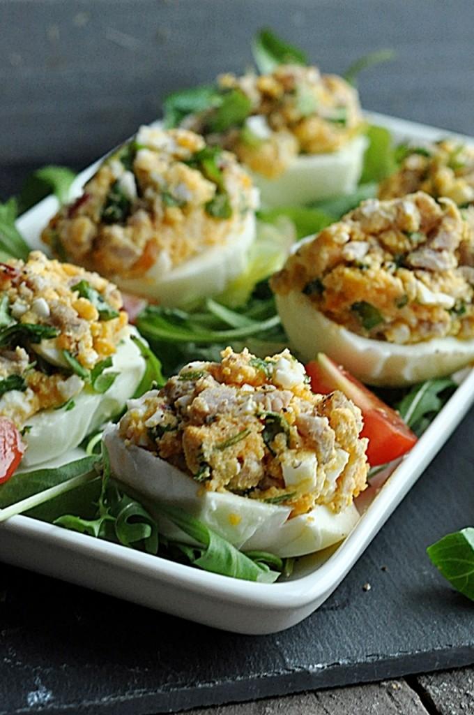 dietetyczne jajka faszerowane
