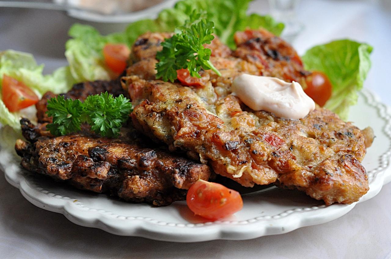 Kotlety z kurczaka i warzyw