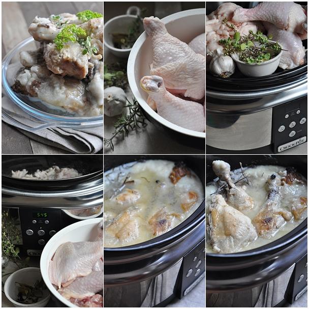konfitowany kurczak