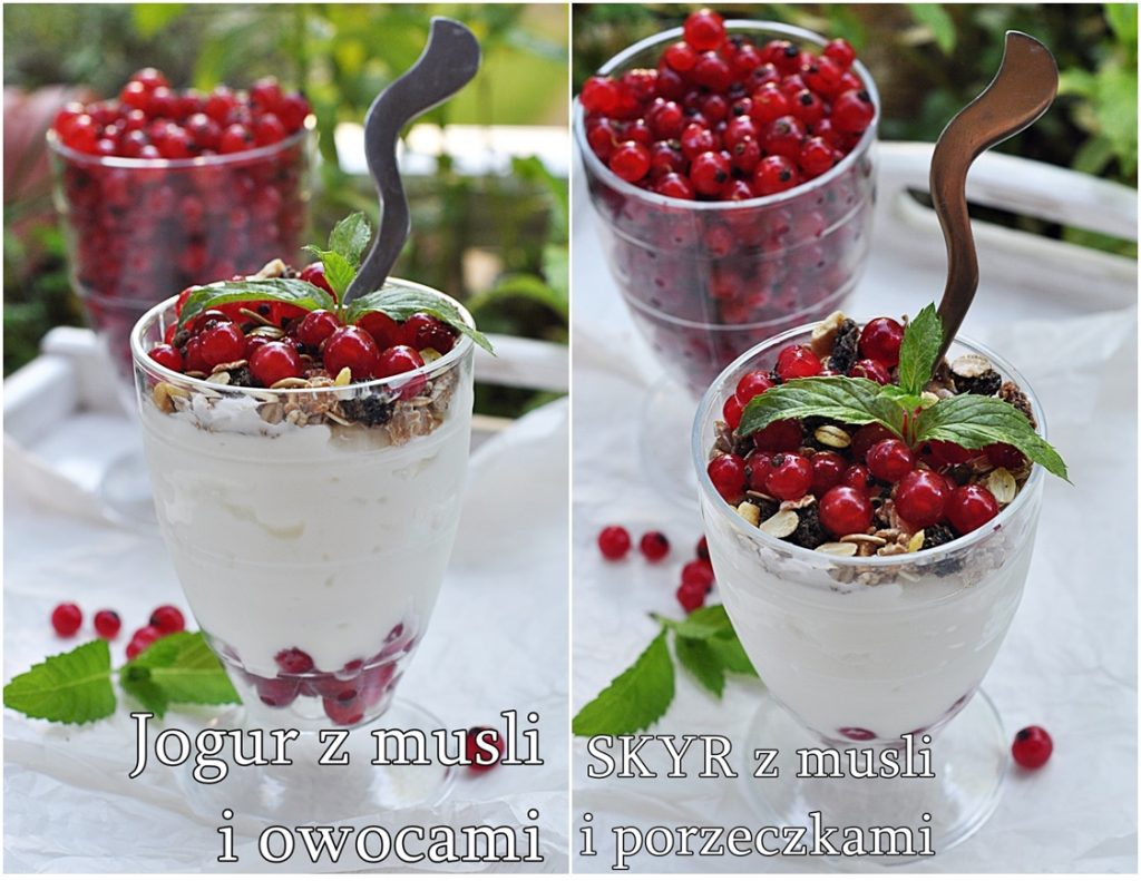Jogurt z musli i owocami