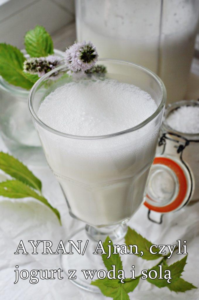 napój z jogurtu i wody