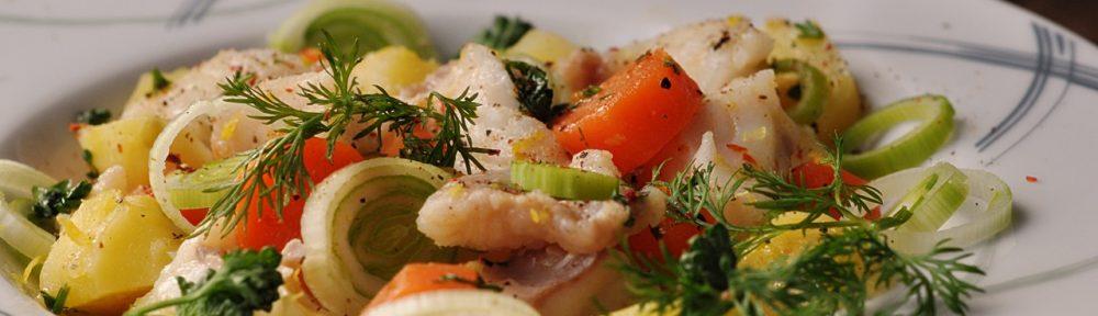 sałatka z rybą