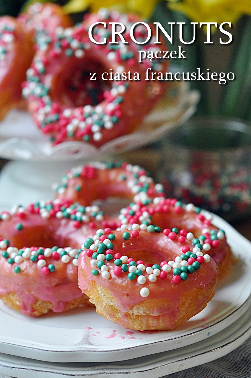 pączki z ciasta francuskiego
