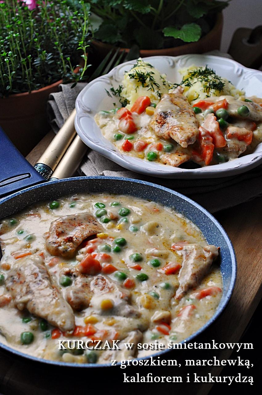 Filety z kurczaka z warzywami