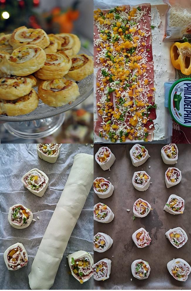 roladki z ciasta francuskiego