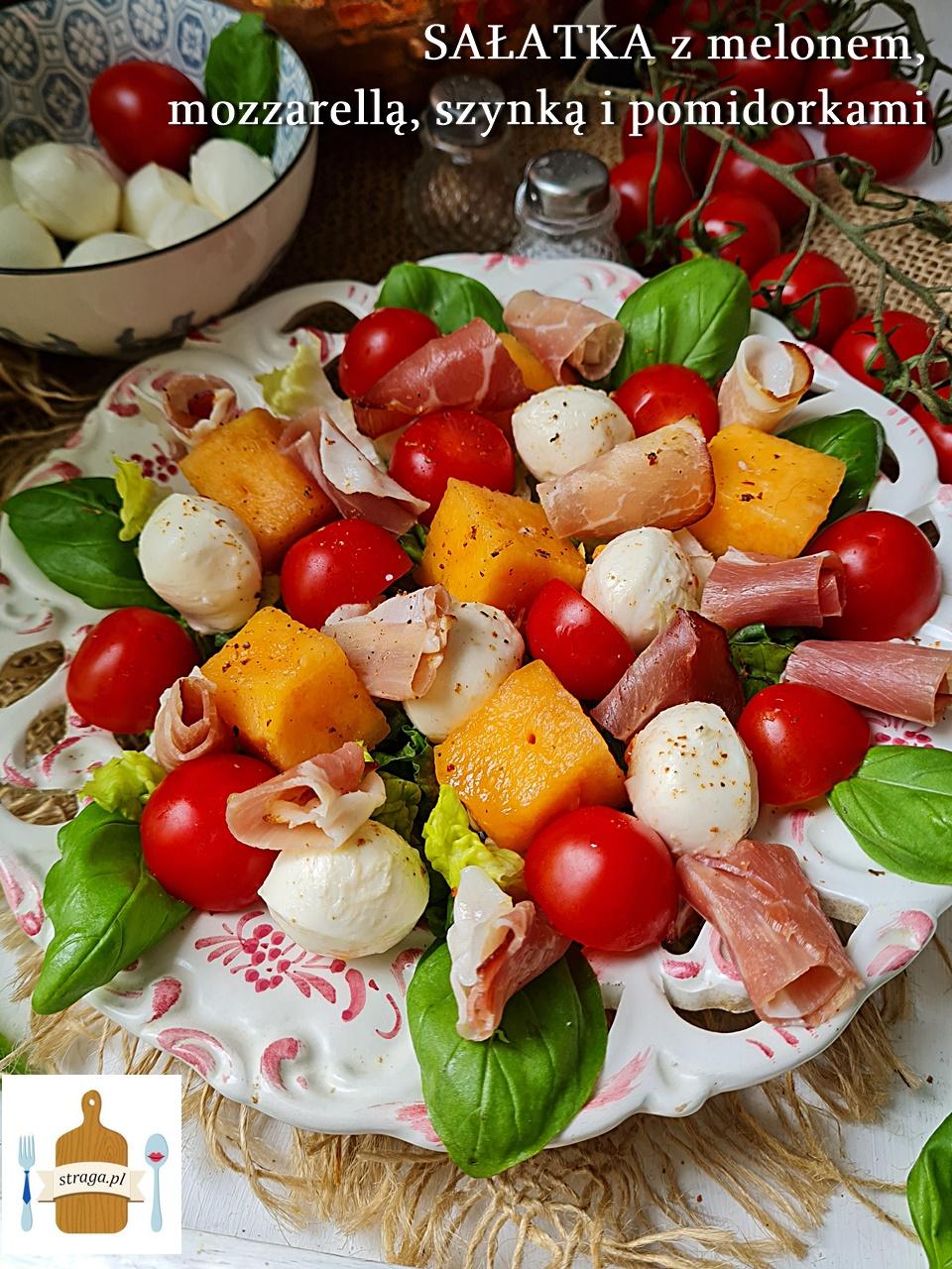 letnia sałatka z melonem